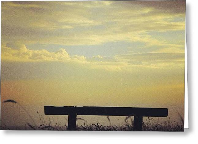 There Is A #bench On A #clifftop In Greeting Card