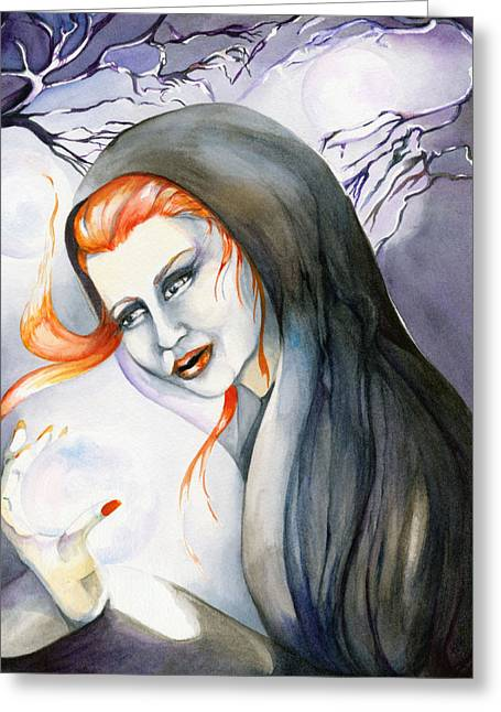 There's Magick In The Air Greeting Card by Nadine Dennis