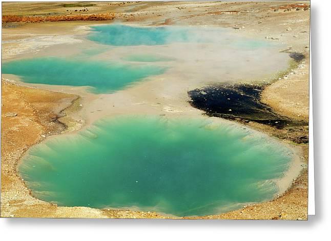 Thermal Pools Greeting Card