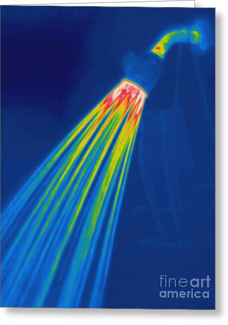 Thermogram Of A Shower Head Greeting Card