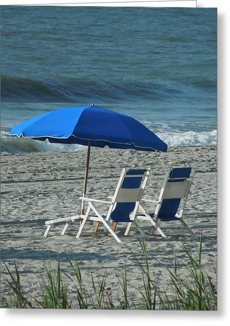 These Chairs Are Calling Your Name Greeting Card by Chad and Stacey Hall