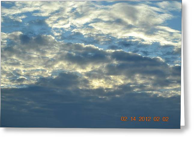 Thick Clouds Greeting Card by Heidi Frye