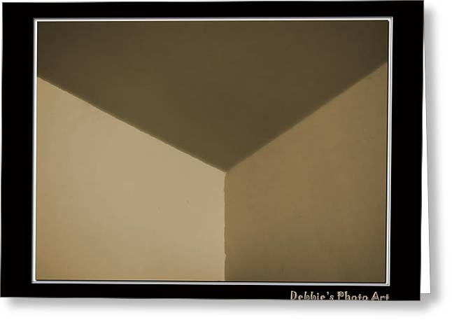 Think Outside Or Inside The Box    Optical Illusion Greeting Card by Debbie Portwood