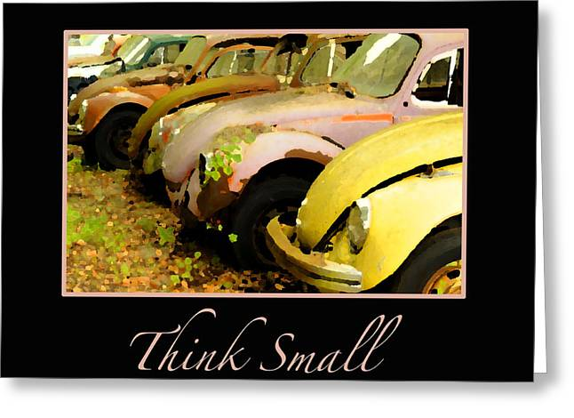 Think Small Greeting Card by Nancy Greenland