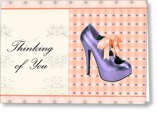 Thinking Of You Bow Shoe Greeting Card