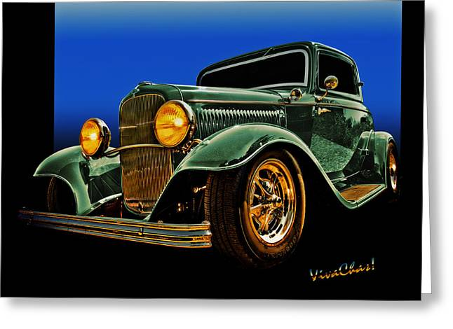 This 32 Ford Coupe Jumps Off The Page Greeting Card