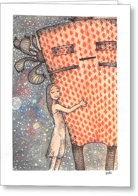 This Ain't A Lonely World Greeting Card by Katchakul Kaewkate