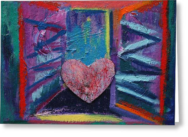 This Heart Wants Out Greeting Card by Karin Eisermann