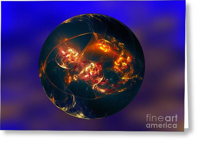 This Is Another World 2 Greeting Card by Klara Acel