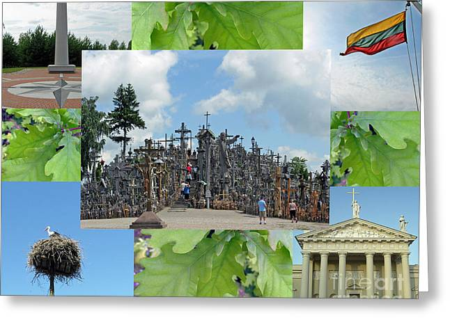 Greeting Card featuring the photograph This Is Lietuva- Lithuania by Ausra Huntington nee Paulauskaite