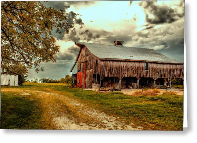 This Old Barn Greeting Card by Bill Tiepelman