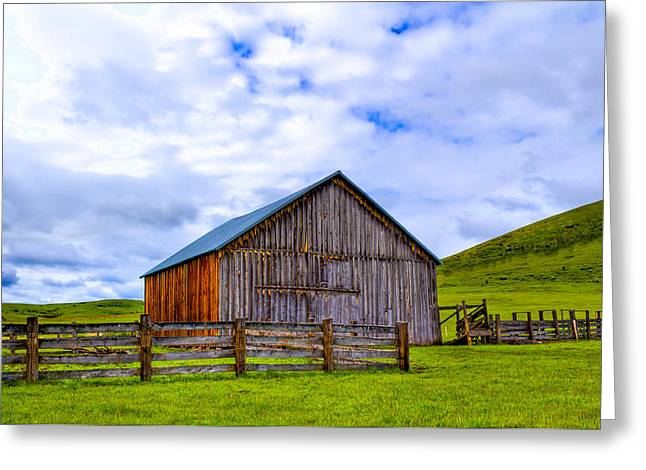 This Old Barn Greeting Card by Jen TenBarge