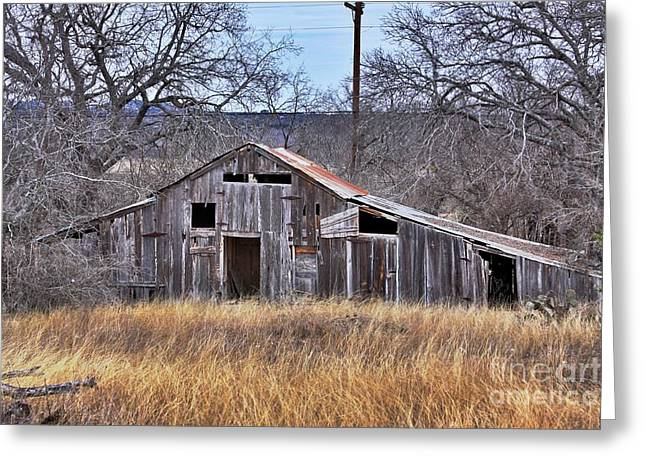 This Old Barn Greeting Card by Joe Finney