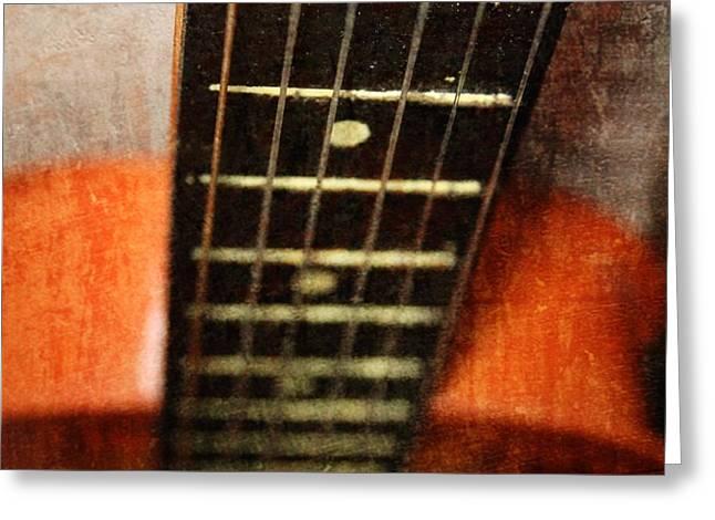 This Old Guitar Greeting Card by Martina Fagan