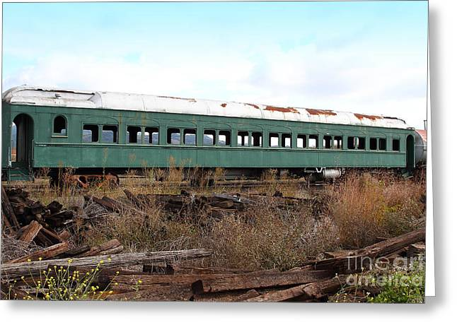 This Old Train Has Seen Better Days . 7d8994 Greeting Card by Wingsdomain Art and Photography