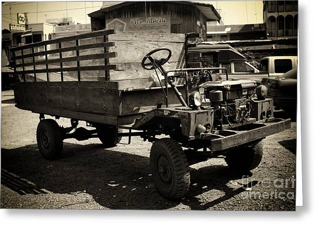 This Old Truck Greeting Card by Thanh Tran