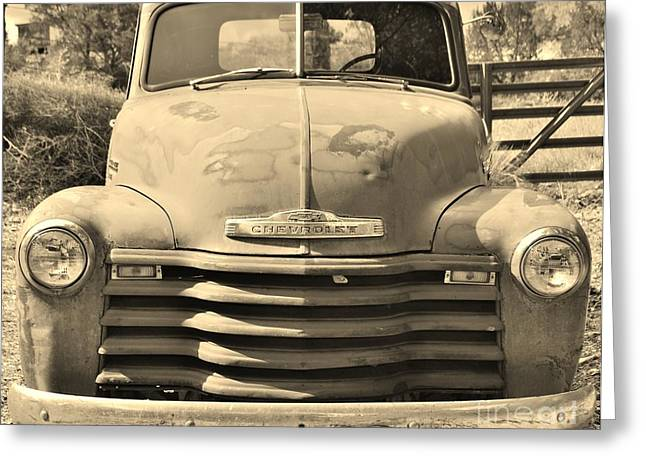 This Old Truck Greeting Card by William Wyckoff