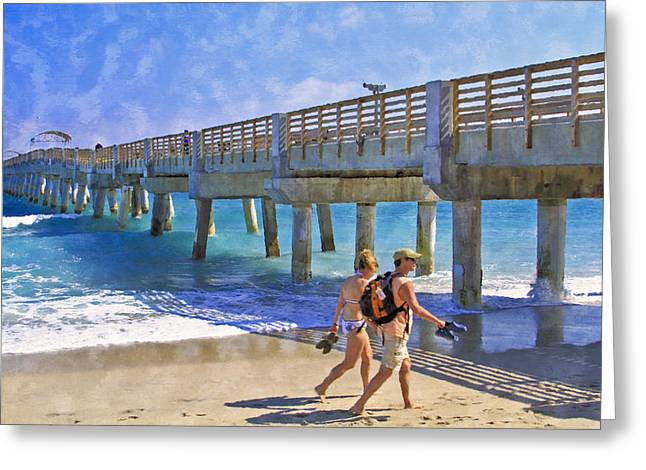 This Side Of Paradise Greeting Card by Debra and Dave Vanderlaan
