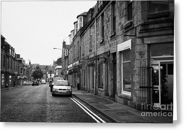 Thistle Street Rows Of Granite Houses And Shops Aberdeen Scotland Uk Greeting Card by Joe Fox