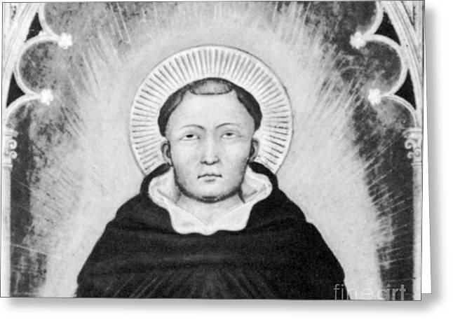 Thomas Aquinas, Italian Philosopher Greeting Card