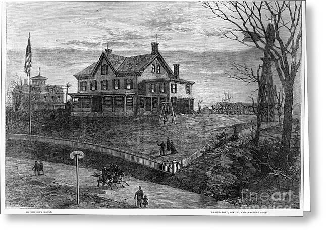 Thomas Edison Residence Greeting Card by Granger
