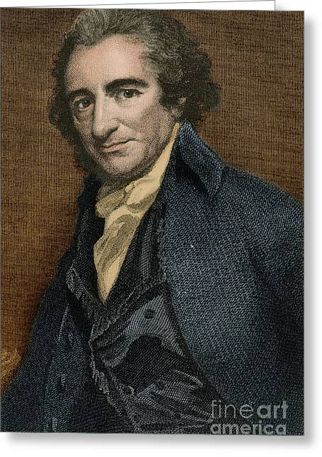 Thomas Paine, American Patriot Greeting Card by Photo Researchers