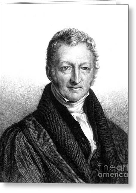 Thomas Robert Malthus, English Scholar Greeting Card