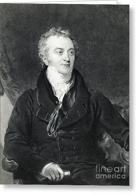 Thomas Young, English Polymath Greeting Card