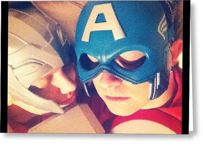 Thor And Captain America. #gay #lovers Greeting Card