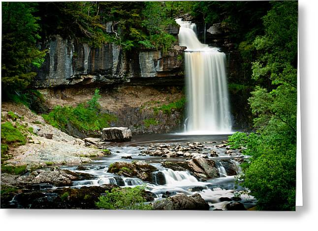 Thornton Force Waterfall 2 Greeting Card by Andy Comber