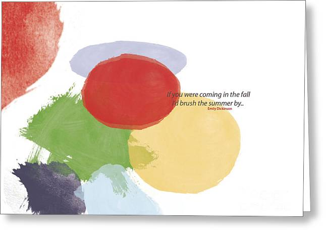 Thoughts Of Emily Dickinson Greeting Card by Trilby Cole