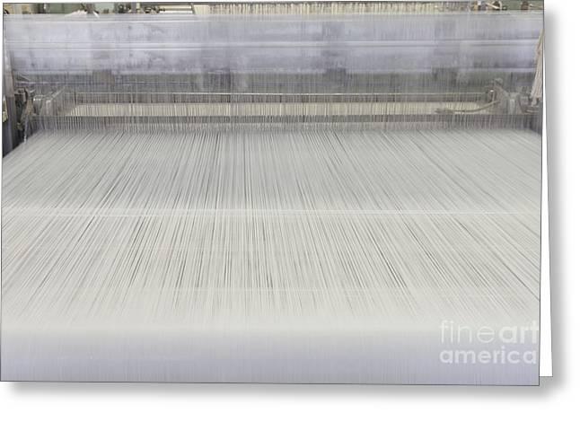 Threads In An Industrial Loom Greeting Card by Magomed Magomedagaev
