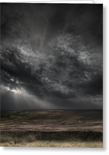 Threatening Skies Greeting Card by Andy Astbury