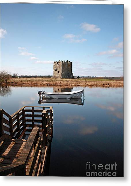 Threave Castle Reflection Greeting Card