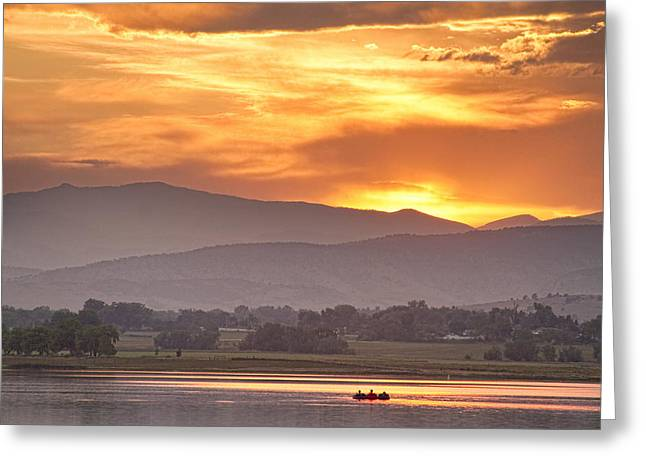 Three Belly Boats Enjoying The View Greeting Card by James BO  Insogna