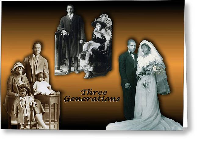 Three Generations Greeting Card by Terry Wallace