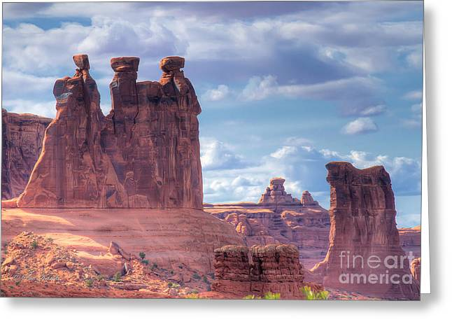 Three Gossips Greeting Card