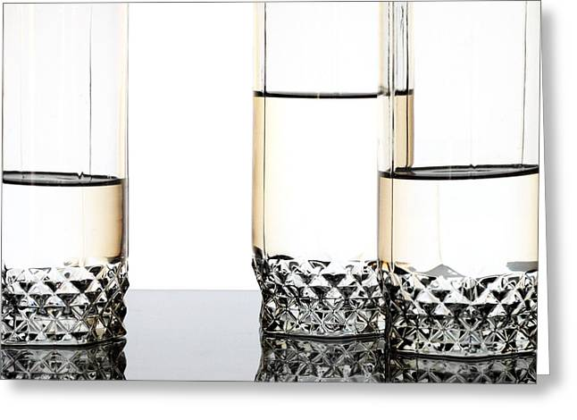 Three Luxury Glasses Greeting Card