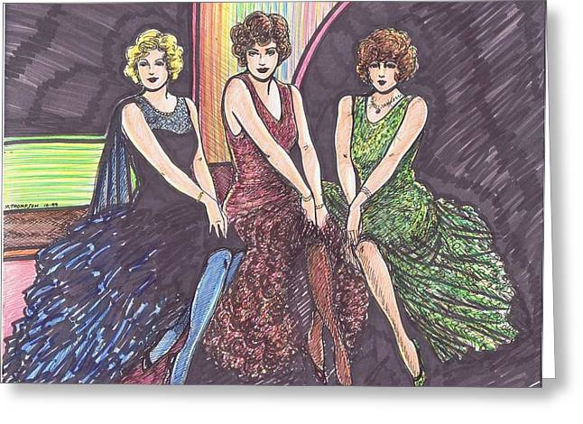 Three Movie Ladies Greeting Card
