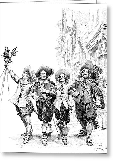 Three Musketeers Greeting Card by Granger