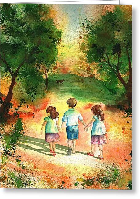 Three S Company Greeting Card by Sharon Mick