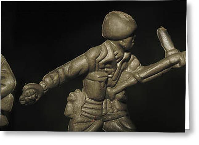 Three Toy Soldiers Of Fortune   Greeting Card by Randy Steele