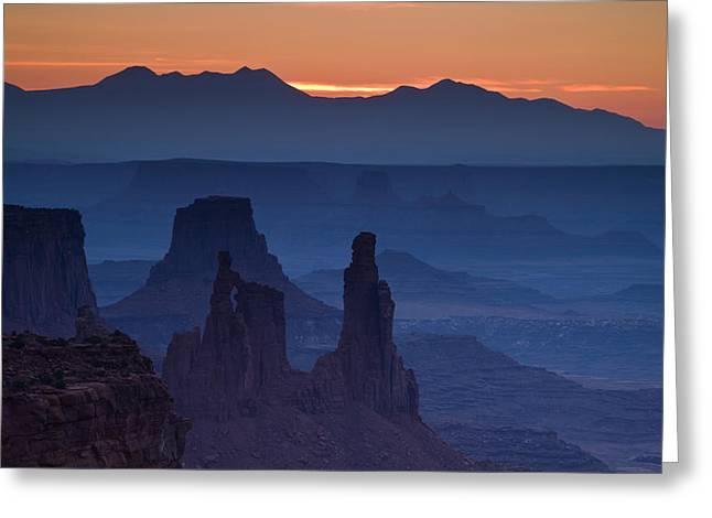 Through Mesa Arch Greeting Card by Andrew Soundarajan