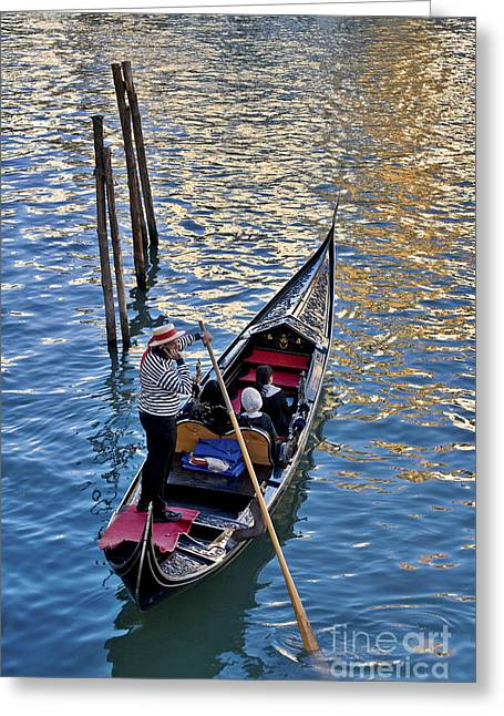 Through The Canals Of Venice Greeting Card by Heiko Koehrer-Wagner