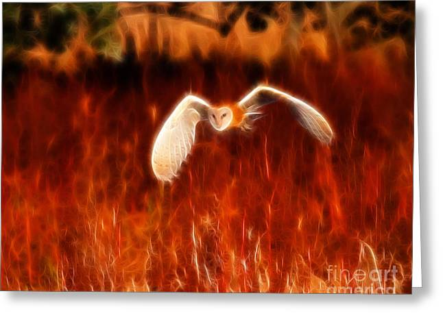 Through The Fire Greeting Card by Beth Sargent