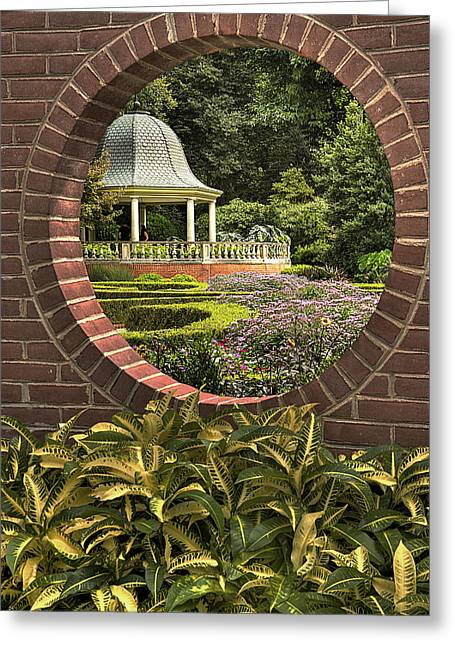 Through The Garden Wall Greeting Card by William Fields