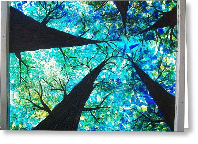 Through The Trees Greeting Card by Desiree Soule