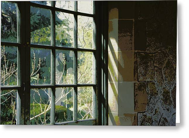 Greeting Card featuring the photograph View Through The Window by Marilyn Wilson