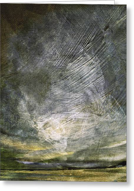 Greeting Card featuring the digital art Thunder In The Distance by Jean Moore