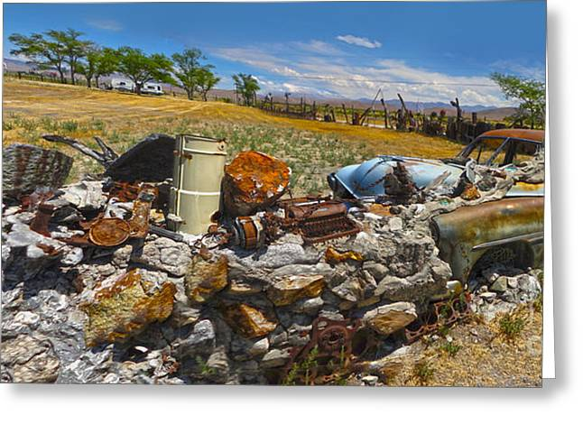 Thunder Mountain Indian Monument - Great Wall Greeting Card by Gregory Dyer